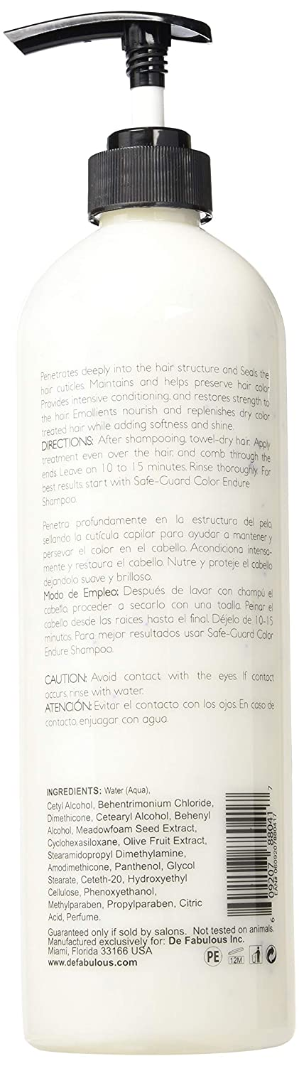 Amazon.com : De Fabulous Safe-guard Color Endure Treatment With Vitamin E Beads, 33.8 Ounce : Beauty