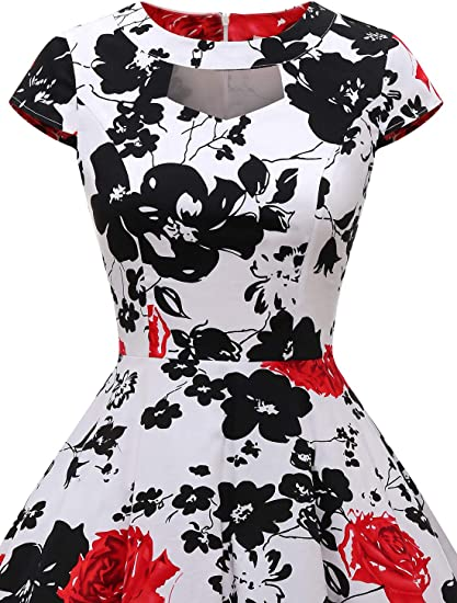 Free Amazon Promo Code 2020 for Womens 1950s Vintage Keyhole Dress