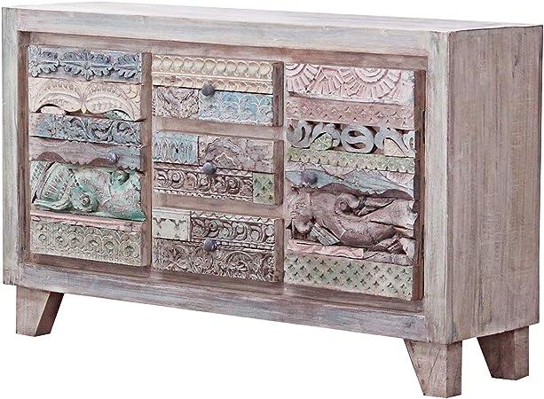Casa Moro CAC555280 Azara - Cómoda india (150 x 40 x 90 cm, madera de mango): Amazon.es: Hogar