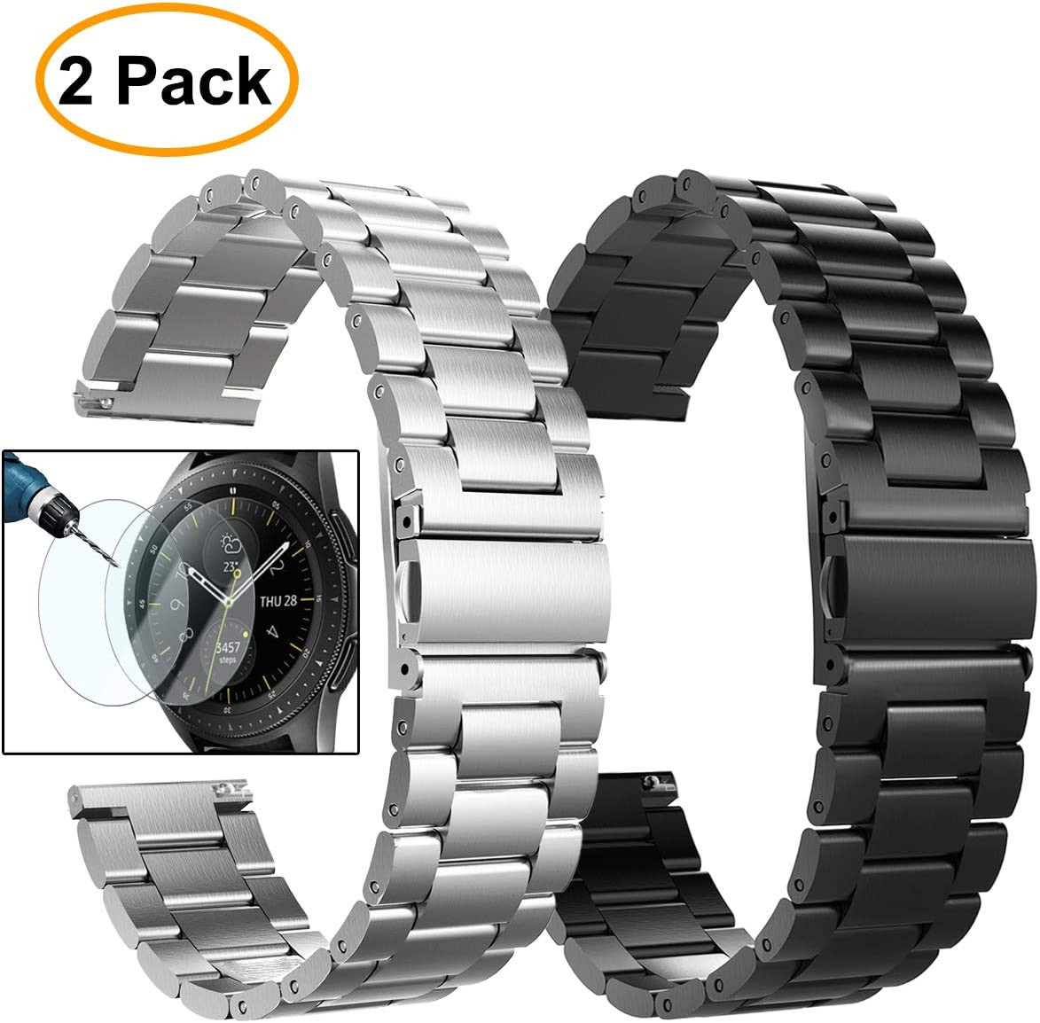 2 mallas para Samsung Galaxy Watch 46mm SM-R800