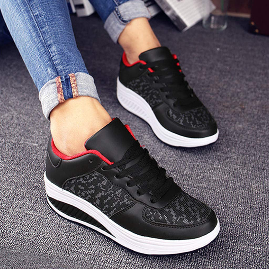 cd44b32c7 Womens Sport Shoes LuluZanm Fashion Ladies Wedges Sneakers Sequins Shake  Fashion Girls Shoes Arts, Crafts & Sewing Cinsanong Boots Clearnce Sale