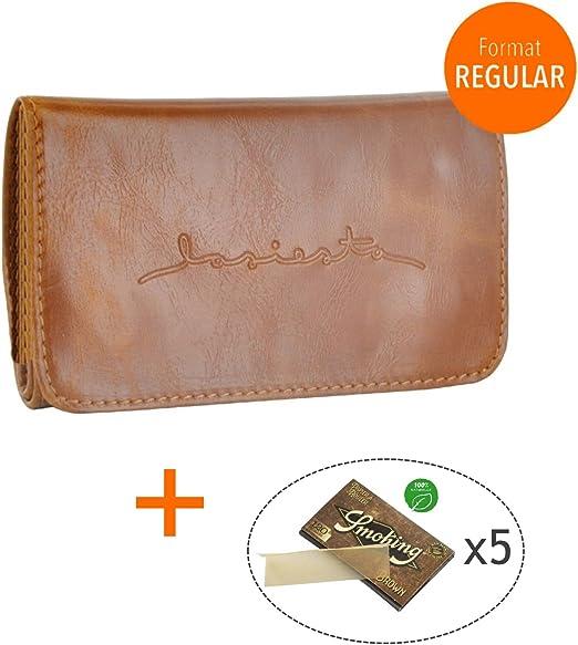 LA SIESTA Pack – Estuche para Tabaco Cuaderno Doble lasiesta + 5 Paquetes de Hojas Smoking Brown Regular – Tobacco Pouch – Bolsa de Tabaco – Camel: Amazon.es: Hogar