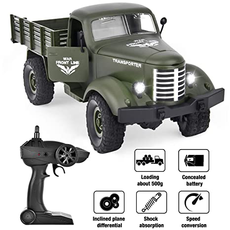 Rc Car And Truck Radio Control Remote Control Rc Planet >> Rainbrace Remote Control Truck Army Toys For Boys Kids 1 16 Rc Military Truck 4wd Remote Control Car Electric Off Road Military Rc Trucks Vehicle