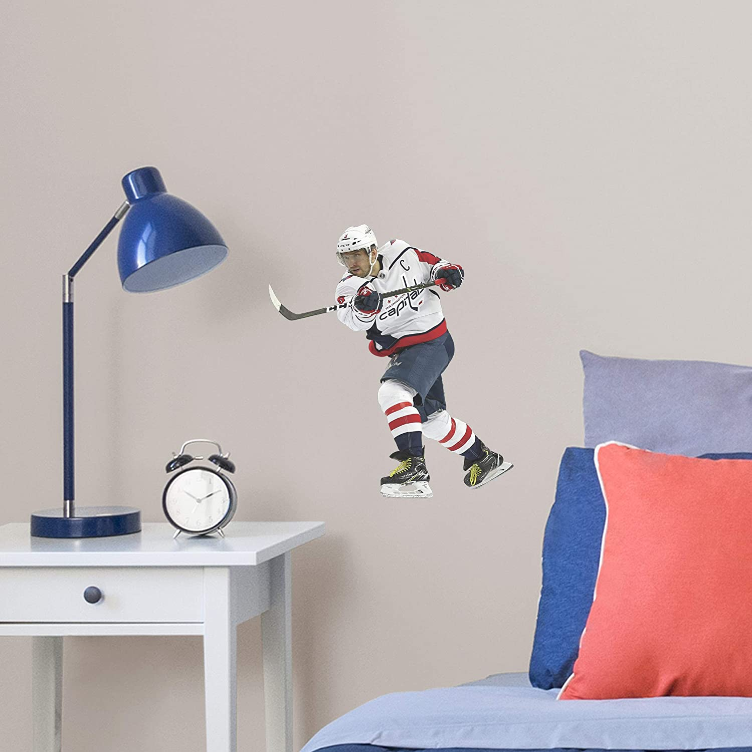 Large Fathead NHL Washington Capitals Alex Ovechkin Officially Licensed Removable Wall Decal Multicolor 1900-00459-005