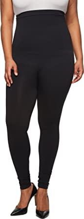 7287e2d6cdce9 SPANX Women's Plus Size Look at Me Now High-Waisted Seamless Leggings Very  Black 1X