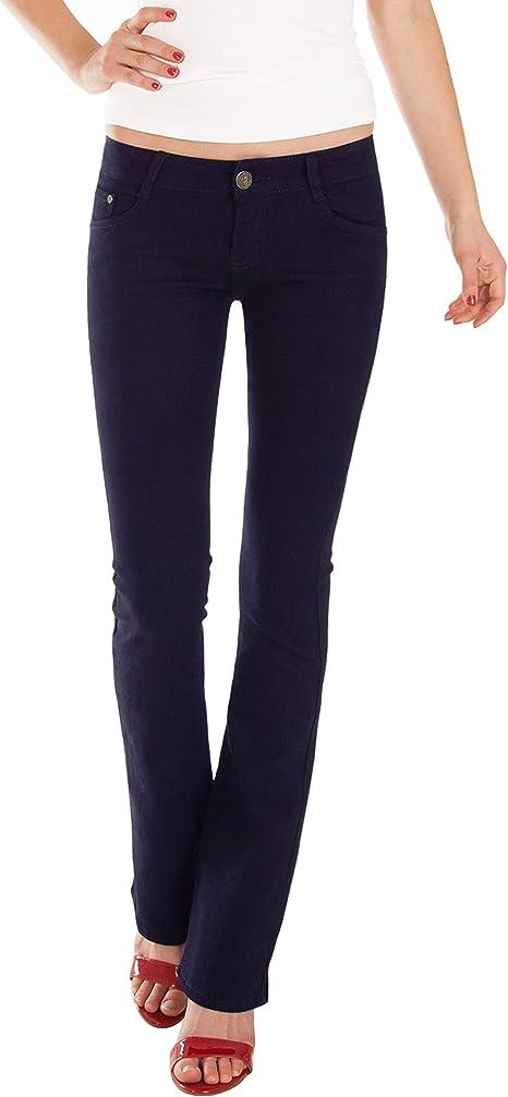 Fraternel Damen Jeans Hosen Bootcut Hüftjeans