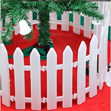 christmas decorations christmas fence fence white christmas decoration hotel decoration a pack of 10 - Christmas Fence Decorations