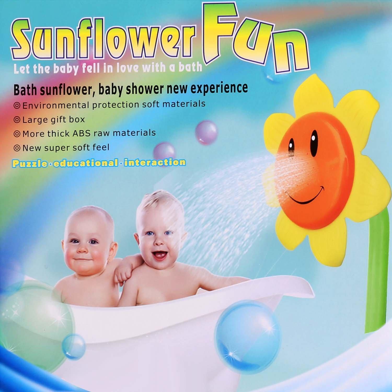 Arshiner Sunflower Baby Bath Toys,Sunflower Shower Spray Bath Play ...
