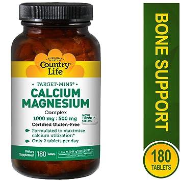 Country Life Target Mins - Calcium Magnesium Complex, 1000 mg/500 mg per 2