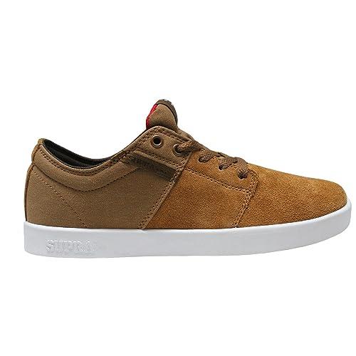 Supra Stacks - Zapatillas, color Tan/White, color 10.5: Amazon.es: Zapatos y complementos