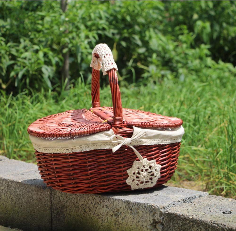 paniers de r/éception paniers de Pique-Nique paniers de Courses yanbingyb Paniers de Pique-Nique en Osier tress/é en Bambou