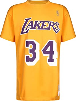 Mitchell & Ness La Lakers Shaquille Oneal 34 Camiseta Yellow