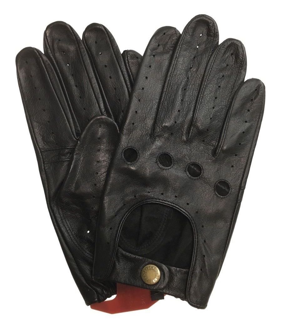 Dents Men's Kangaroo Leather Driving Gloves Unlined Winter (with Gift Box) (X-Large, Black)