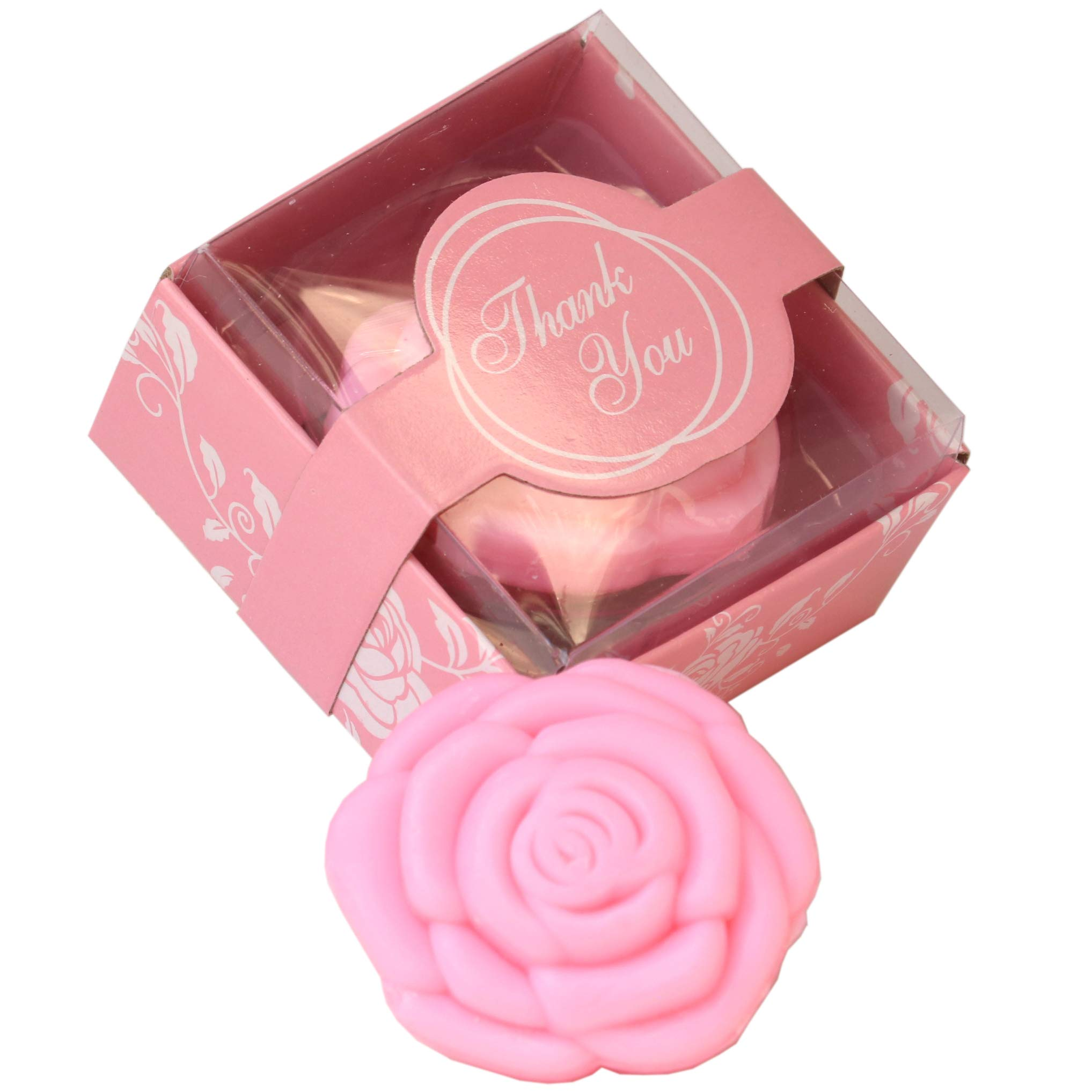 AiXiAng 24 Pack Handmade Pink Rose Style Soap Favors Guests Keepsake Gift for Wedding Gift Baby Favors, Parties, Thanksgiving Gifts,Bridal Shower Favors Decorations Gifts,Wedding Favors for Guests by AI·X·IANG