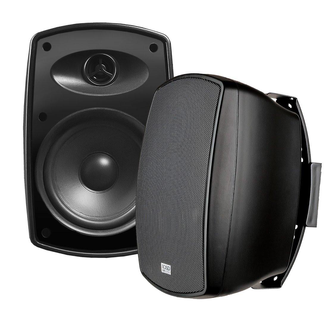 AP650 6.5-Inch 150W High Performance Composite Resin Low Resonator Cabinet 2-Way Indoor/Outdoor Weather-Resistant Patio Speakers - OSD Audio - (Pair, Black)