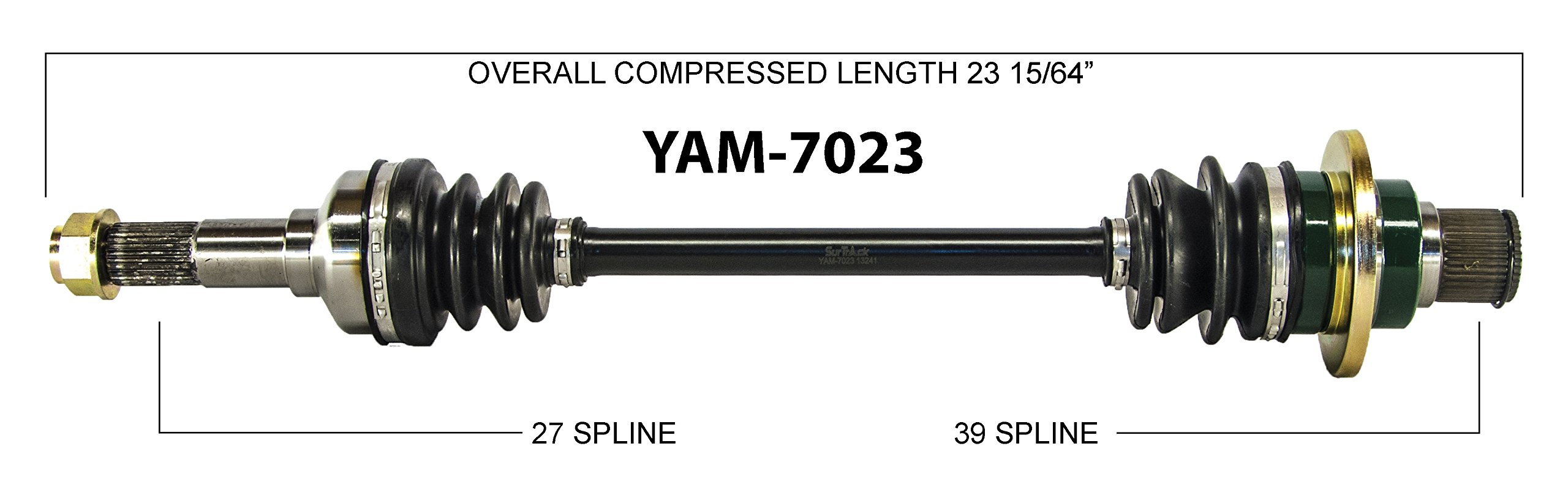 2013 Yamaha YXR700F Rhino 700 FI Sport Edition ATV UTV Rear (Back) Left Driver Side CV Axle Shaft Assembly