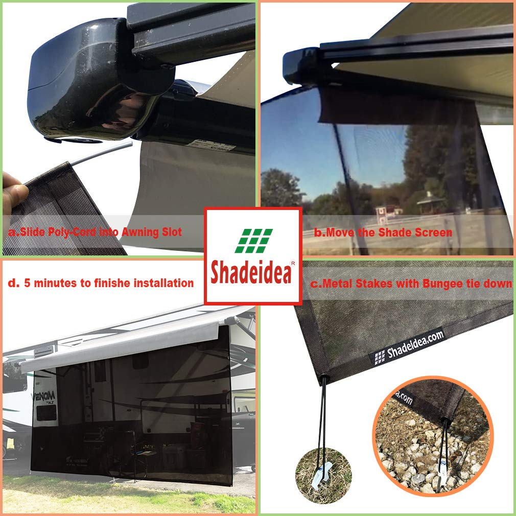 CHEAP Shadeidea RV Sun Shade Screen for Awning - 8' X 15 ...