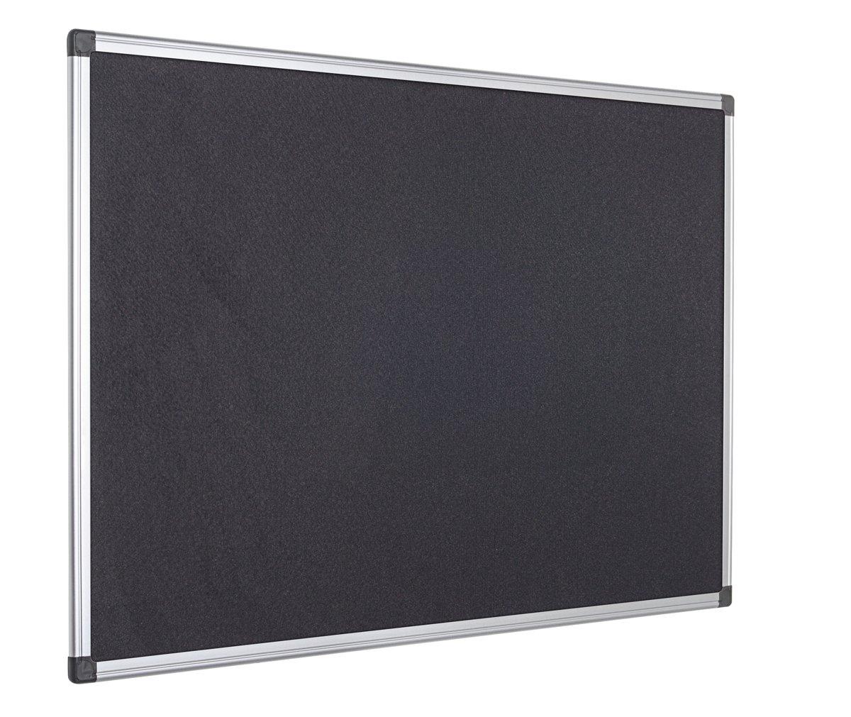 Bi-Office Maya - Tablero de anúncios con marco de aluminio, 60 x 45 cm, fieltro negro: Amazon.es: Oficina y papelería