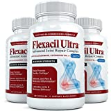 Flexacil Ultra - Maximum Strength Joint Pain Relief Supplement - Best Joint Supplement for Women and Men to Help Reduce Inflammation with Glucosamine, Chondroitin, and MSM, 3 Bottles, 60 Capsules Each