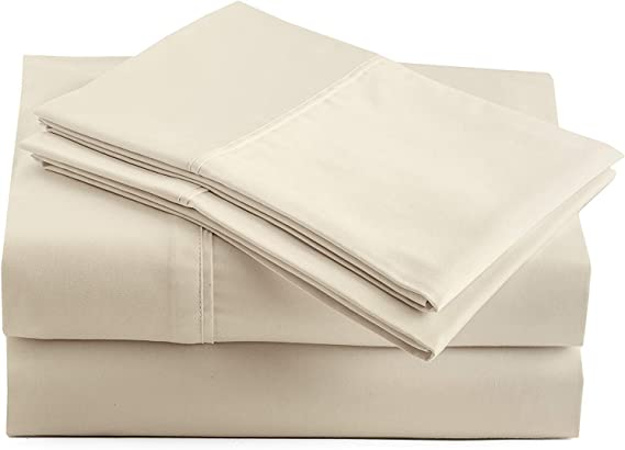 Marina Shades Authentic Egyptian Cotton Sheet Set fits mattresses up to 18