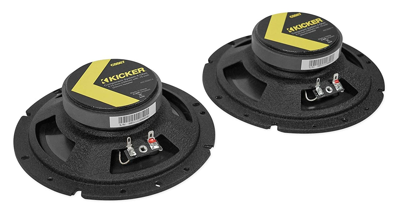 Kicker 46CSS674 Car Audio 6 3//4 Component Full Range Stereo Speakers Set CSS67