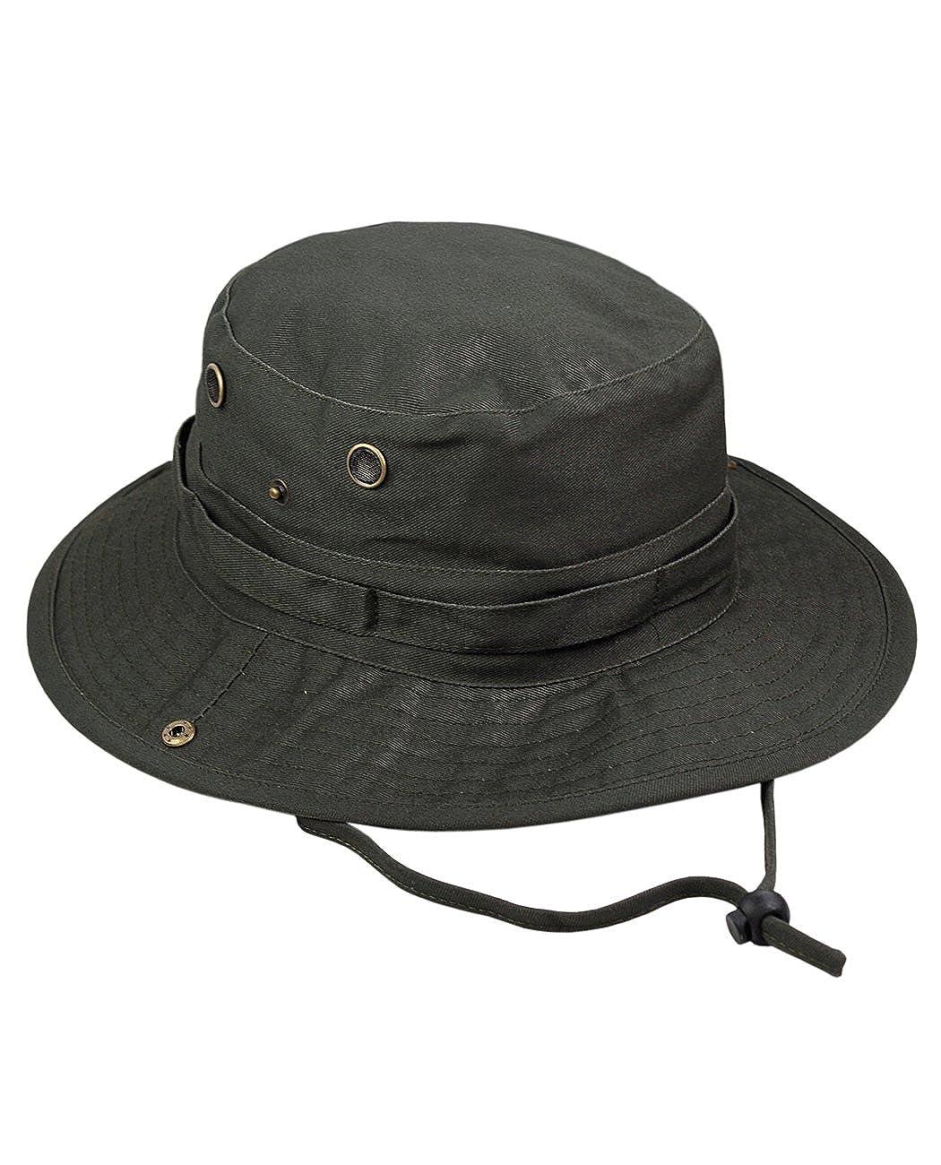 70dc417b036 NYFASHION101 Men s Crushable Snap Brim Cotton Outdoor Bucket Sun Hat Black  OD1890-BK