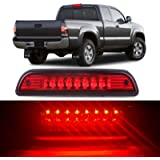High Mount Stop Lights LED 3rd Red Brake Tail Light Replacement fit for 1995-2016 Toyota Tacoma Truck (Red)