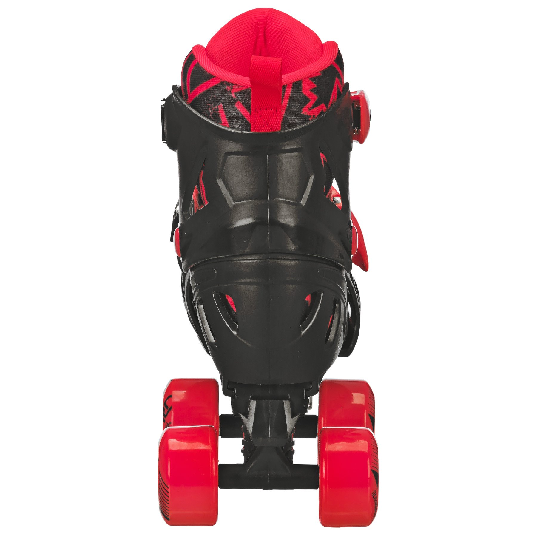 Roller Derby Trac Star Boy's Adjustable Roller Skate, Grey/Black/Red, Large (3-6) by Roller Derby (Image #2)