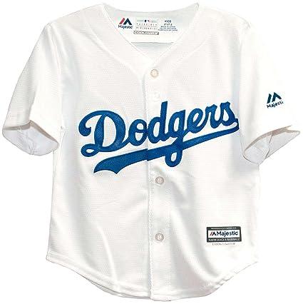 d55143ff Majestic Infant/Toddler MLB Los Angeles Dodgers White Baseball Jersey (24  Months)