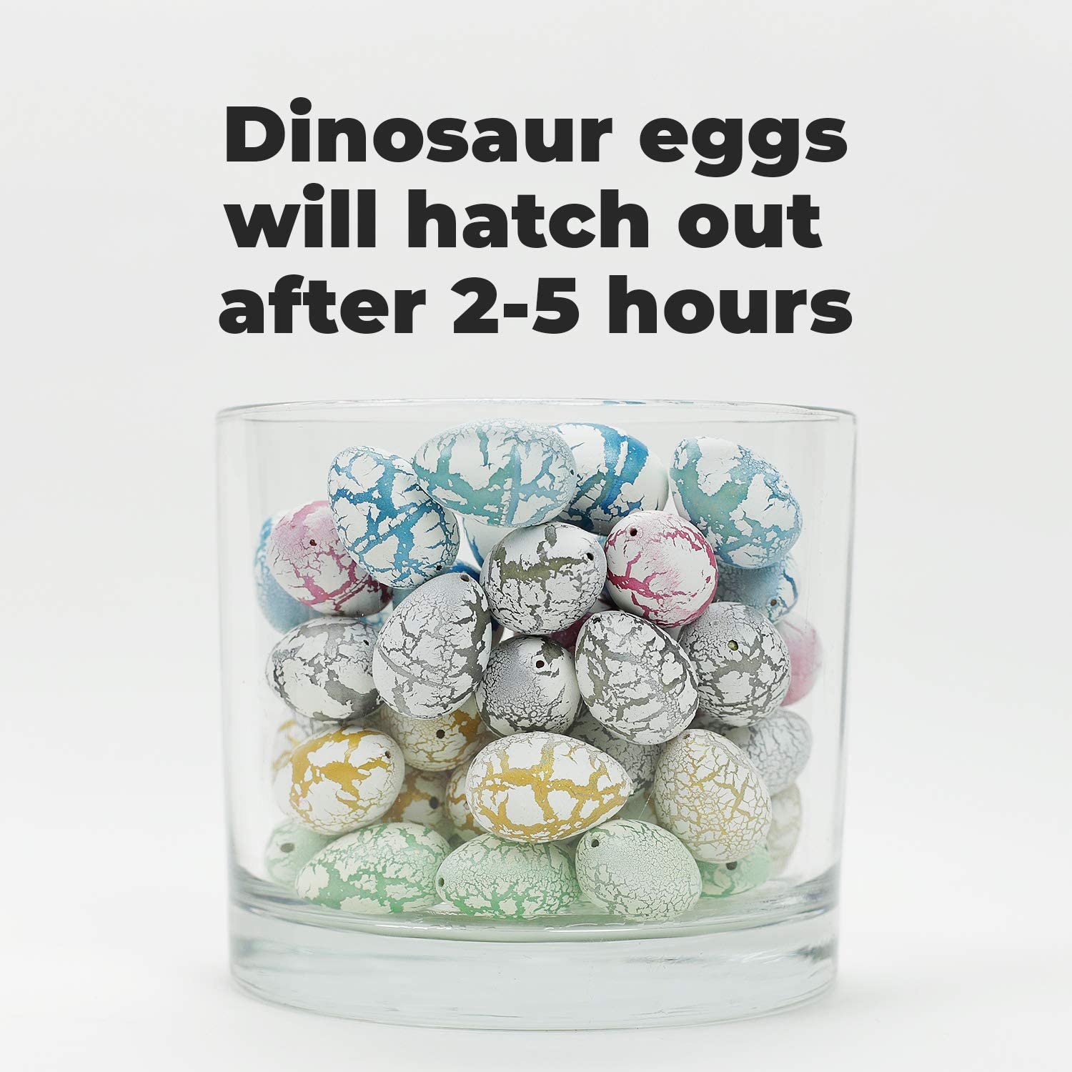 Entervending Grow Eggs Hatch in Water Toy 60 ct Prefilled Growing Surprise Inside Dinosaur Figures Hatching Dino Toys Educational Hatchimal Party Favors Egg Hunt