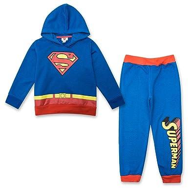 2fae5cd42 Superman Toddler Boys Jogger Set - DC Comics Hoodie & Sweatpants Set  (Blue/Red
