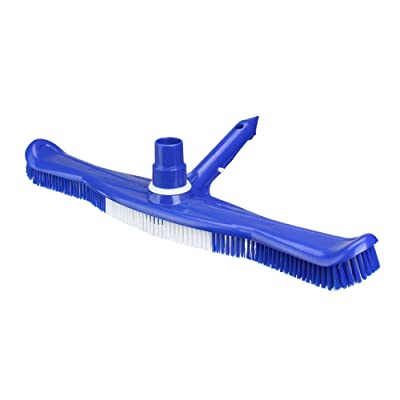 "20"" Blue and White Swimming Pool Vacuum Brush Head with Swivel : Garden & Outdoor"