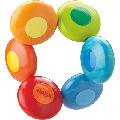 HABA Rainbow Circles Clutching Toy (Made in Germany) : Baby