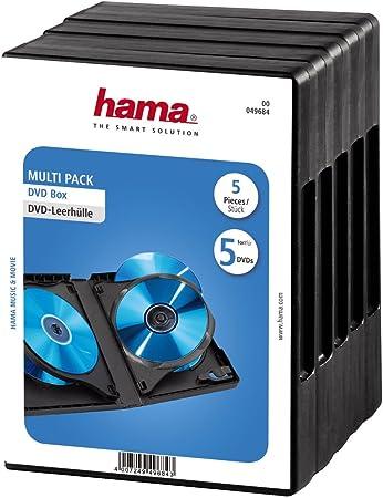 Hama Dvd Hüllen Für 5 Dvds 5er Pack Schwarz Computer Zubehör