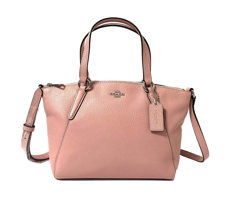 cbd6f5218 Coach Pebble Leather Mini Kelsey Satchel Crossbody Handbag (SV/Petal):  Handbags: Amazon.com