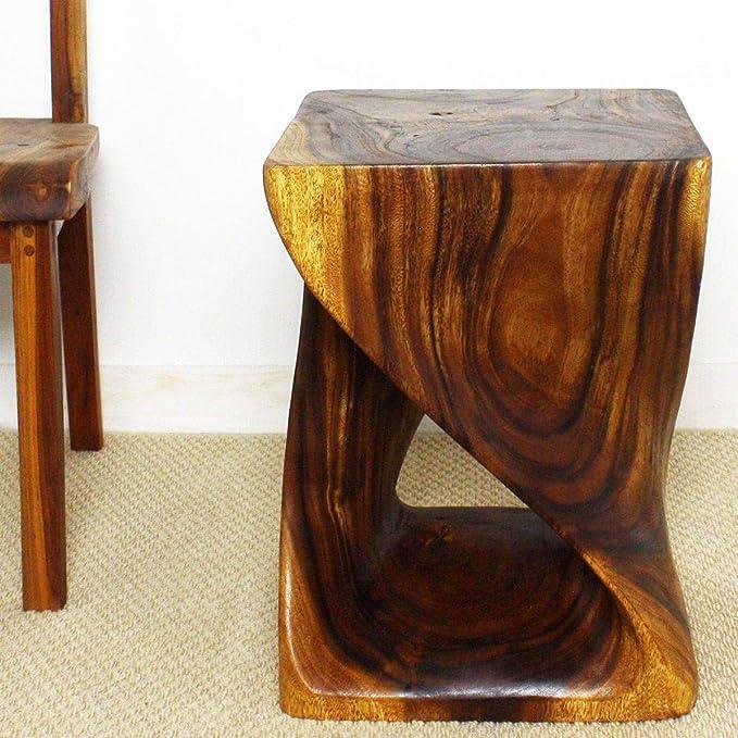 MESA Tocinera de madera maciza de largo 1 m Barnizada en color nogal