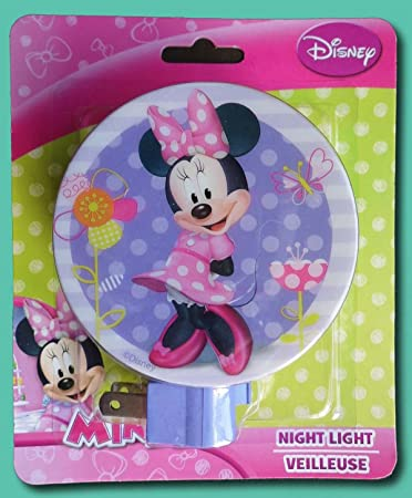 Amazon.com: NUEVO. Minnie Mouse Disney lámpara luz nocturna ...