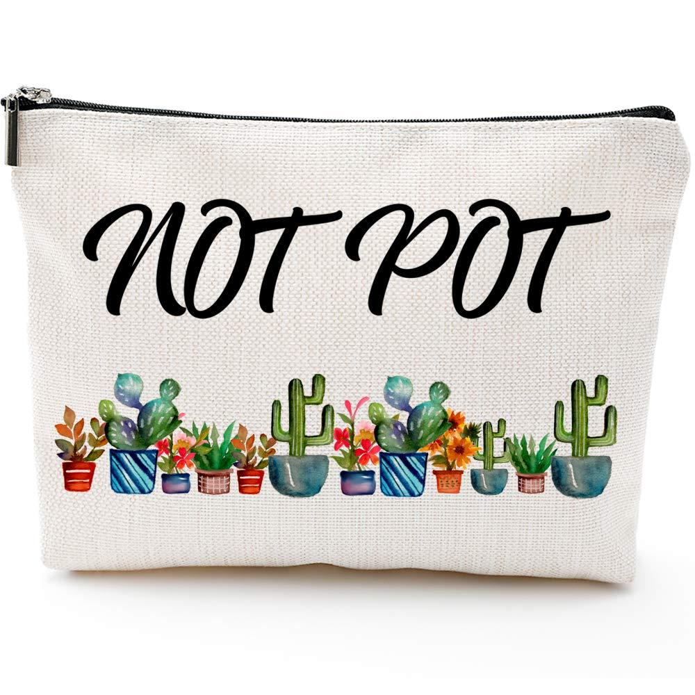 Not Pot Makeup Bag, Marijuana Gift, Pot Gift,Makeup Clutch, Cosmetic Bag, Weed Gift, Stash Box, Stash Bag, Cosmetic Pouch, Travel Case