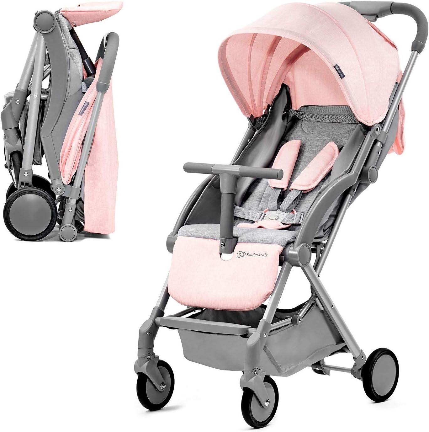 Kinderkraft Silla de Paseo PILOT, Plegable, Transportable, Hasta 15 kg, Rosa