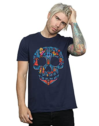 Disney Herren Coco Skull Pattern T-Shirt Small Marine