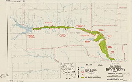 Amazon Com Historic Map Missouri River Basin 1950 Missouri