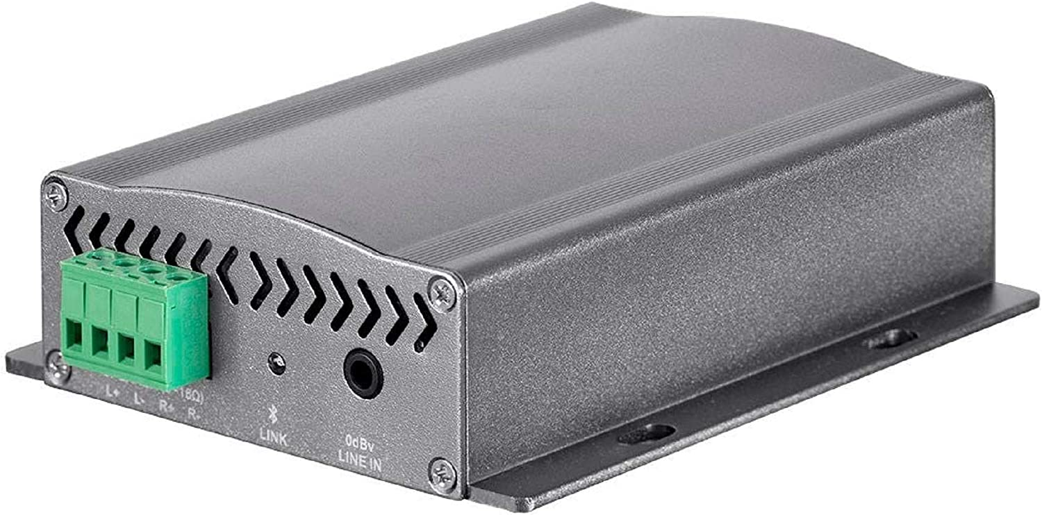 Monoprice Commercial Audio 80W Mini Bluetooth Amplifier with AUX in, Built-in Transformer, Aluminum Construction