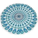 Round Pillows ,IEason Clearance! Large Mandala Floor Pillows Round Bohemian Meditation Cushion Cover Ottoman Pouf