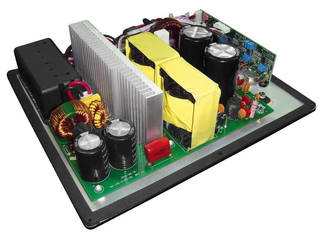 Monacor SAM-500D subwoofers//caissons de basses Actif, 20-200 Hz, Secteur, Noir