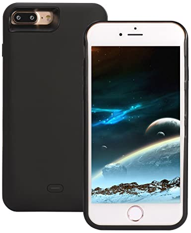 sale retailer 2a51f 735ce Amazon.com: iPhone 7 Battery Case, ICONIC 5200 mAh (Charge 140% + ...