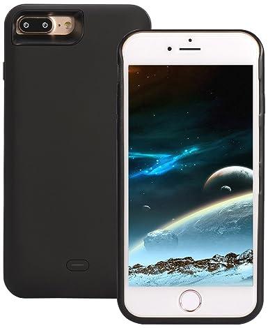 sale retailer cd1f9 74afa Amazon.com: iPhone 7 Battery Case, ICONIC 5200 mAh (Charge 140% + ...