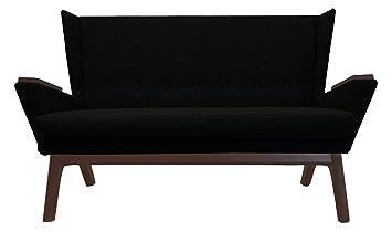 Amazon.com: Lewis Interiors Black Upholstered Mid Century ...