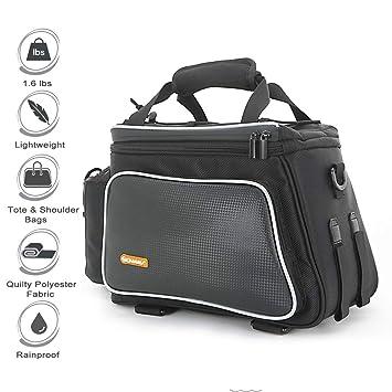 Amazon.com: Onway - Bolsa para maletero de bicicleta, nailon ...