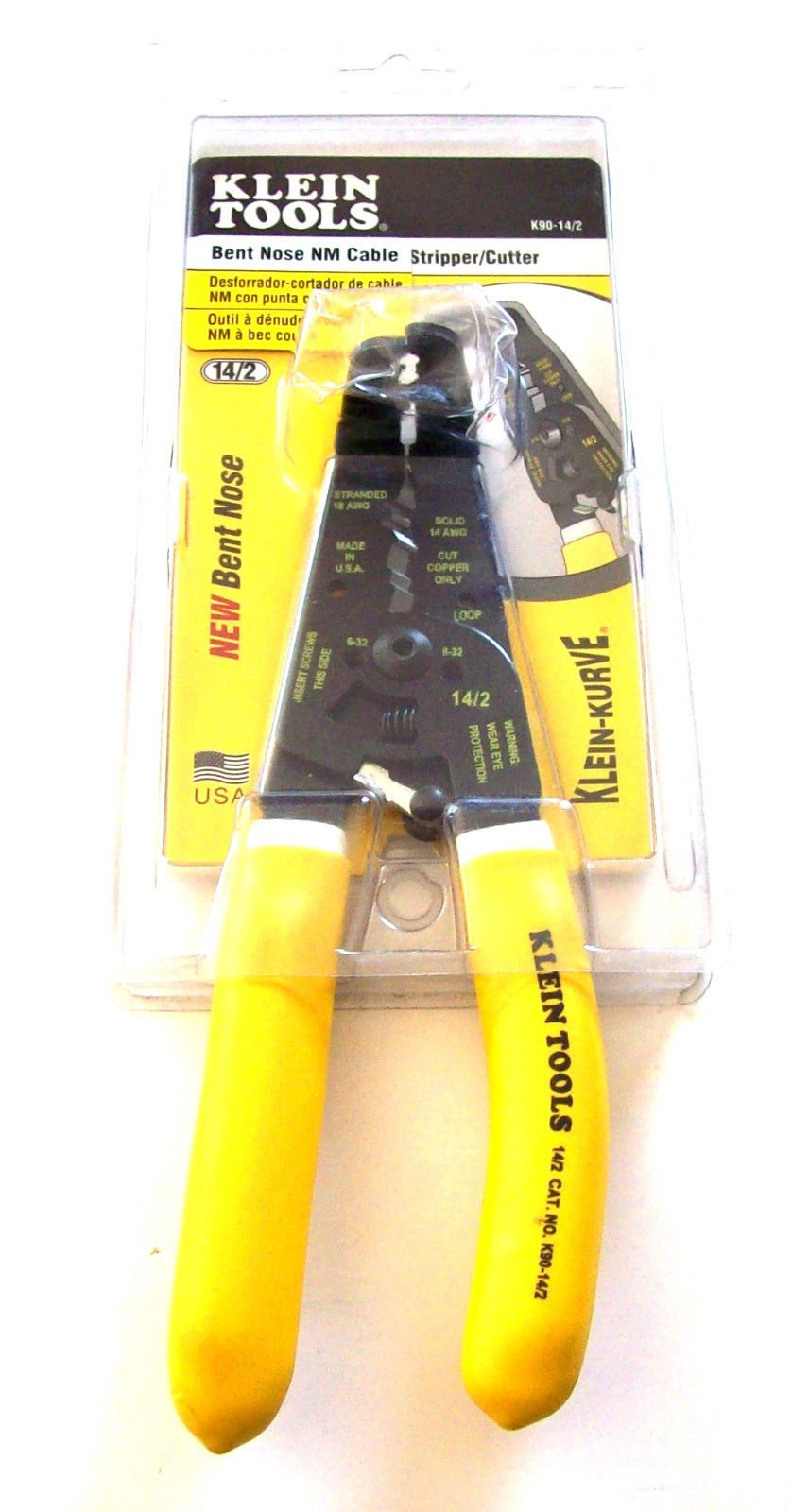 KLEIN TOOLS K90-14/2 ROMEX NM CABLE WIRE STRIPPER CUTTER PLIER USA ELECTRICAL ;supply_by_blattsbargains