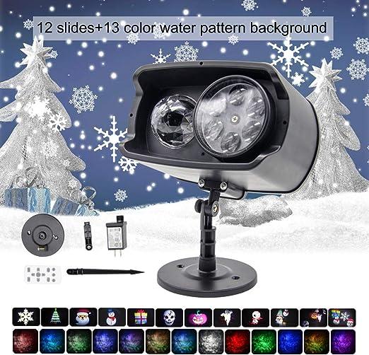 Huapa Luz De Proyector LED De Navidad, Con 9 patrones separados y ...